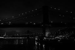 USA2015_4233.jpg (Z A N A) Tags: nyc newyorkcity light blackandwhite bw ny newyork skyline architecture brooklyn night perspective dumbo nyny biancoenero
