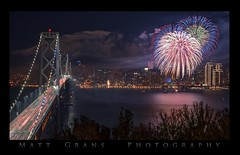 Are You Ready For Some Football??? (Matt Grans Photography) Tags: sanfrancisco california skyline night fireworks baybridge superbowl
