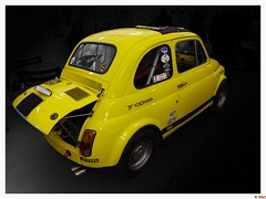 Fiat 500 Abarth (hebertjeanluc826) Tags: auto jaune fiat rally voiture collection exposition belle salon italie abarth comptition