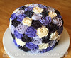 Purple Rosettes Bridal Shower Cake