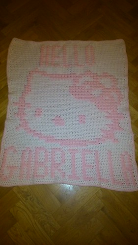 Kitty blanket for Gabriella