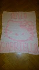 Kitty blanket for Gabriella (dochol) Tags: cute wool cat handmade hellokitty name crochet kitty craft yarn homemade bebe alphabet hook personalised croche babyname virka crochethooks hekle hakeln virkhaus szydelkowac virkka haakenwert