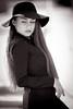 Anamaria (mugensx) Tags: portrait white black girl monochrome hat lady zeiss hair dress sony 135 alpha f18 dslr a900 13518