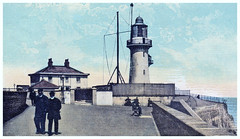 The Hartlepool Light House - shown by a postcard posted on 29th of August, 1908. (Lenton Sands) Tags: lighthouse 1908 hartlepool