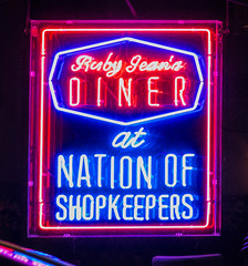Nation (tubblesnap) Tags: blue red sign restaurant neon nation leeds diner jeans ruby shopkeepers of