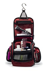 Compact Hanging Toiletry Bag, Personal Organizer for Men & Women   Rugged & Water Resistant with Mesh Pockets & Sturdy Hook for Business or Leisure Travel (Maroon) (wupplestravel) Tags: travel water women mesh personal maroon business organizer hanging leisure hook sturdy rugged pockets compact toiletry resistant