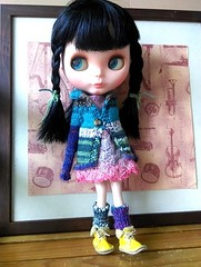 Blythe variegated cardigan