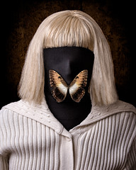 Deep Silence (Tortured Mind) Tags: portrait animals butterfly mask zoom wildlife insects headshot wig subject nikkor dslr 54 ratio d800 70200mmf28