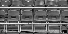 No standing ! (CJS*64) Tags: bw monochrome mono blackwhite spain nikon chairs rows seats dslr seating malaga cjs whiteblack nikkorlens d7000 nikond7000 18mm105mmlens craigsunter cjs64