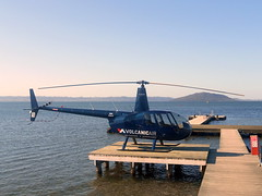 Robinson R44 Raven II helicopter (miledorcha) Tags: new travel holiday island flying rotorua aircraft air north sightseeing flight engine piston helicopter zealand tours raven volcanic robinson copter heli excursion 2007 mark2 ravenii lycoming r44 11986 zkhad