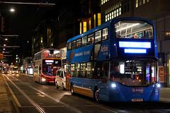 SA15 VTG & SK07 CBY, Princes Street, Edinburgh, February 29th 2016 (Southsea_Matt) Tags: sa15vtg 429 sk07cby 837 route37 route100 airlink princesstreet wright streetdeck bus omnibus vehicle passenger travel public transport february 2016 winter edinburgh lothian scotland unitedkingdom canon 60d sigma 1850mm lothianbuses volvo b9tl nightshot