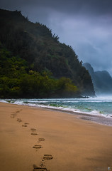Where I've Been (Eric Gail: AdventuresInFineArtPhotography) Tags: hawaii footprints kauai kee keebeach