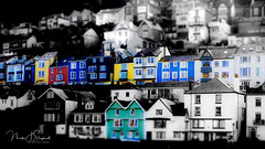 23/116 Tilt-shift Dartmouth (mik-shep) Tags: blue houses red colour green yellow photoshop waterfront stack devon 23 hillside dartmouth cottages terraced tiltshift 116picturesin2016