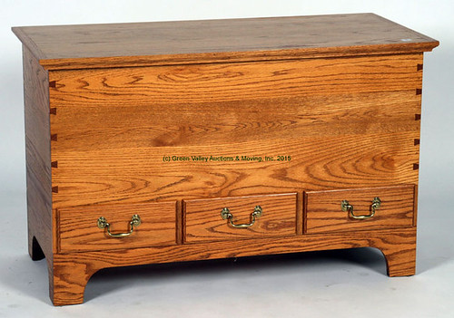 Tom Sealy Oak Blanket Chest $330.00 - 9/11/15