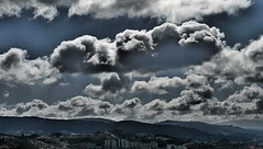 Heavy skies (rgrant_97) Tags: sky portugal clouds effects nuvole himmel olympus cu cielo coimbra nvens sz15