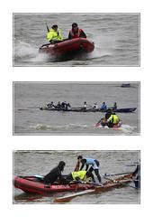 Rgate d'hiver 2016 - Sauvetage (chando*) Tags: brussels canal triptych belgium belgique bruxelles rowing triptyque rescueboat aviron regate