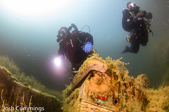 Wreck of the Wagoneer (Josh.Cummings) Tags: water vermont scuba diving quarry drysuit rebreather joshcummings