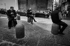 call center (MarioMancuso) Tags: life road street city people urban bw italy white black monochrome photography mono photo italian italia noir shot candid streetphotography documentary mario scene bn naples streetphoto blanc reportage monocrome photogrphy mancuso