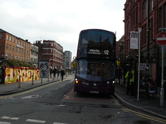 Vanatge BW65 DCU (Mike McNiven) Tags: new bus buses manchester busway first april wright hybrid leigh vantage guided 2016 streetdeck gemini3 tfgm 3rdapril2016 bw65dcu