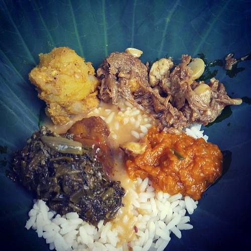 #sevencurry #veggies #weddinghouse #Guyana #mobilephotography #G4