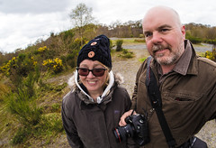 Her and Him. (CWhatPhotos) Tags: pictures county uk portrait england woman fish man male eye self pose that four photography couple day foto durham with image artistic cloudy pics north picture pic olympus images east have photographs together photograph fotos co which contain thirds selfie fishey samyang sacriston selfee cwhatphotos epl5