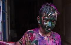 Holi celebration #4 (Prakash clicks) Tags: life portrait india color festival 35mm canon photography sigma celebration holi childern 70d