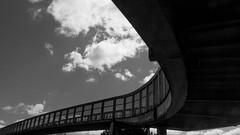 Project 366 - 24th April 2016 (Rich Walker75) Tags: uk bridge sky blackandwhite cloud abstract monochrome architecture canon eos blackwhite curves plymouth devon curve project366 eos100d