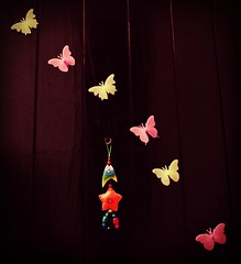 Butterfly dream... with a charm... (lsm9) Tags: door decorations dream butterflies plastic luckycharms