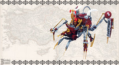 The Buhar Walker (burningblocks) Tags: spider lego walker empire ottoman middle eastern mech steampunk moc