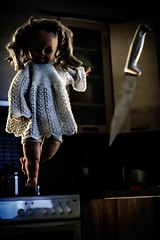 Do not disturb Emily (grzegorz.s) Tags: kitchen toy doll ghost grain knife creepy horror haunting poltergeist