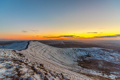Snow covered Corn Du (karlmccarthy1969) Tags: sunset sun mountain snow beautiful wales nikon wide breconbeacons brecon