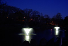 IMGP7166 Lighted water fountains at Fulton south pond 2016 (shutterbroke) Tags: park water pond pentax south ct fountains fulton waterbury lighted k10d shutterbroke