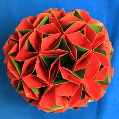 Felicit volatile (Rosy_Ve) Tags: paper origami paperfolding paperwork volatile modularorigami felicit kusudama andreyhechuev
