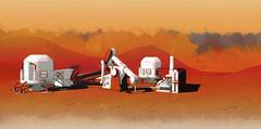 Mars Frontier colony - small terraforming station (Futurilla) Tags: mars station exploration base martian colony terraforming colonisation