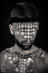 Damien Thorn (WF portraits) Tags: portrait blackandwhite hairy man male studio beard bowlerhat bih