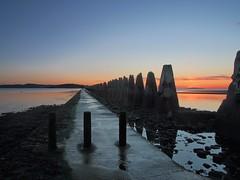 Dark side of the sun (kenny barker) Tags: sea seascape night sunrise dawn scotland causeway cramond
