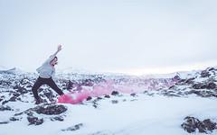 Iceland 2016 (Ena Kurtagic Granulo) Tags: sunset west nature landscape iceland dance movement dancing smoke dancer aurora production bombs choreography ohno sarahaviajahammeken