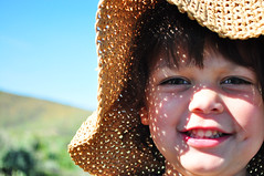Eyes like the sunrise (VeniceJoanNikole) Tags: flowers blue light sunset wild summer sky brown sun white mountain black flower love nature girl monochrome beautiful beauty grass hat sunshine silhouette yellow 30 skyline hair asian dessert photography photo kid spring eyes weeds toddler rocks day child heart natural state princess sweet walk nevada country trails dramatic 7 hike sierra hills clear nv dirt seven flare bloom filipino rae reno challenge edit sagebrush thirty mitchie huffaker