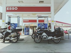 Gassing up (whataride247) Tags: motorcycletouring