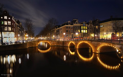 Keizersgracht after dark (d2francis2) Tags: longexposure bridge light holland reflection water netherlands amsterdam architecture night canal cityscape dusk sony dijk keizersgracht lighttrail leidsegracht a7r