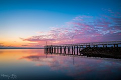 WelloSunrise (Muzfox) Tags: sky cloud colour water sunrise landscape photography dawn pier seaside outdoor jetty australia brisbane shore queensland serene wellingtonpoint