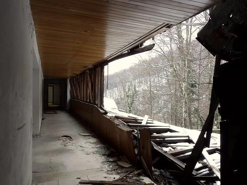 Le couloir du premier étage de l'aile gauche