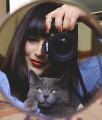 love (Anis Bejleri) Tags: woman selfportrait love girl cat free perugia umbria anisabejleriphotography