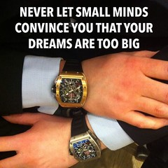 When the dream is big enough, the facts don't matter. #dreambig #success #richardmille #1isnotenough #yougottohave2