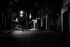 Night Walk (Phredla) Tags: street light white black girl night 50mm blackwhite lowlight walk low e bianco nero biancoenero nightwalk d7200