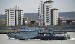 FGS Siegburg M1098 @ Gallions Reach 18-04-16 (AJBC_1) Tags: uk england london boat ship unitedkingdom military navy vessel riverthames nato warship minesweeper eastlondon gallionsreach mcv nikond3200 northwoolwich newham germannavy navalvessel londonboroughofnewham deutschemarine minehunter m1098 m1090 3minensuchgeschwader ensdorfclassminesweeper dlrblog ©ajc bundeswehrnavy fgssiegburg 3rdgermanminesweepingsquadron