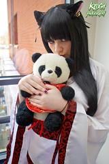 IMG_8725 (Neil Keogh Photography) Tags: china pink red white black anime female panda highheels cosplay chinese manga geisha teddybear kimono dressinggown cosplayer catears nightdress manchesteranimegamingcon2016