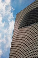 mhm // dresden (Das halbrunde Zimmer) Tags: sky urban museum architecture modern canon germany 50mm dresden steel modernism moderne architektur daniellibeskind brutalism bluebluesky mhm militrhistorischesmuseumdresden libesknd