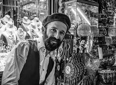Mr Moustachio (Robert Moranelli) Tags: street turkey beard picture jewelry istanbul moustache lamps sell beret clocks tr grandbazaar wares streettog
