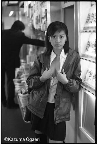 1998.11.30 chika (kazumaogaeriMOSO) Tags: station japan scout braless japaneasegirl kazumaogaeri